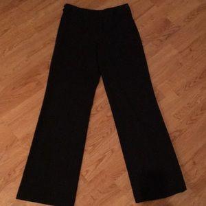 Loft side zip black dress pants